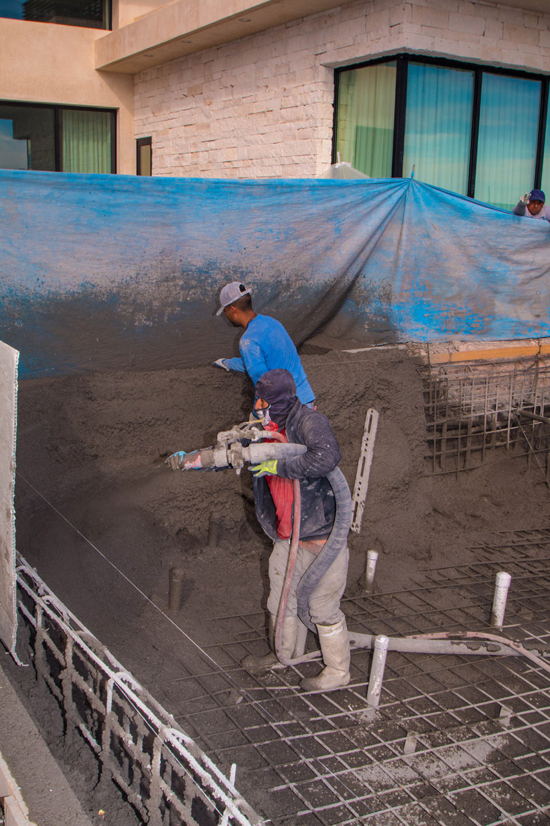 Shotcrete Concrete Application Process - Swimming Pool Construction Process