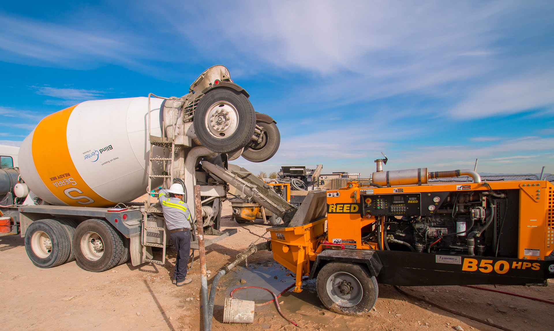 Sierra Ready Mix Concrete Truck - Clarity Pool Service