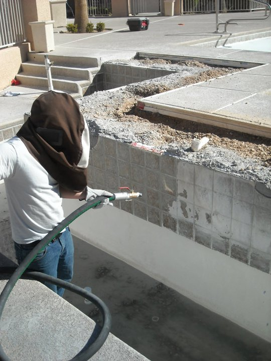 Bead Blasting Service by Clarity Pool Service of Southern Nevada